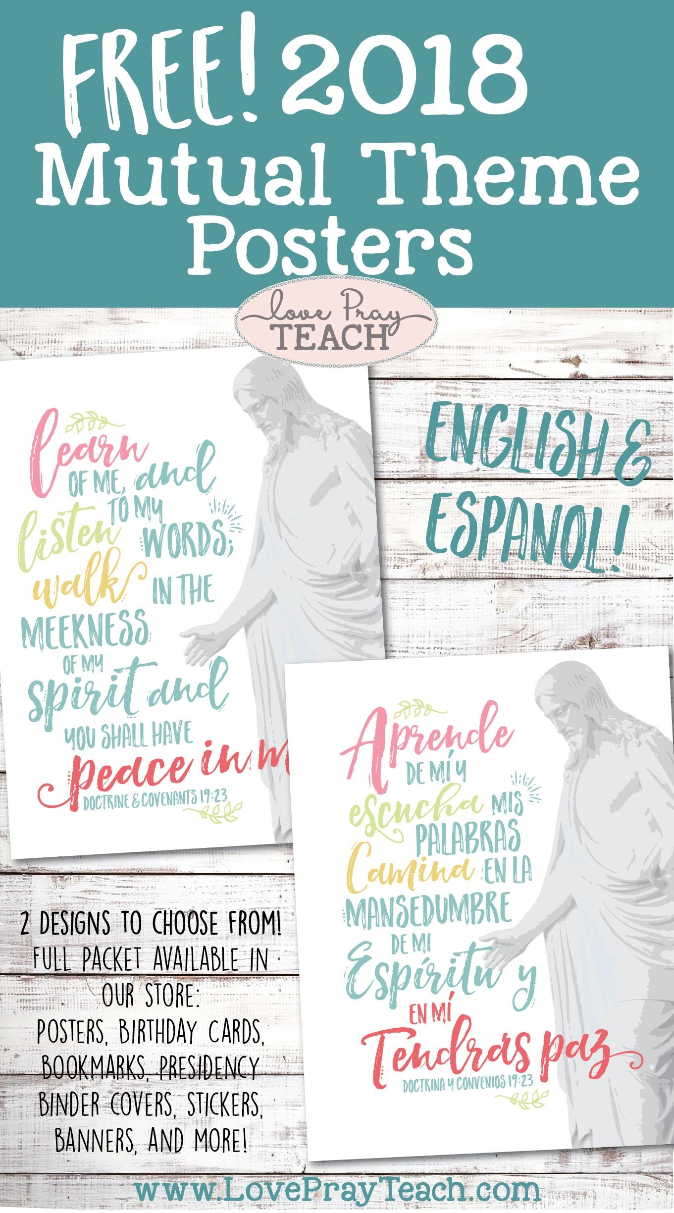 Free! 2018 Mutual Theme Posters! - Free Printable Sud