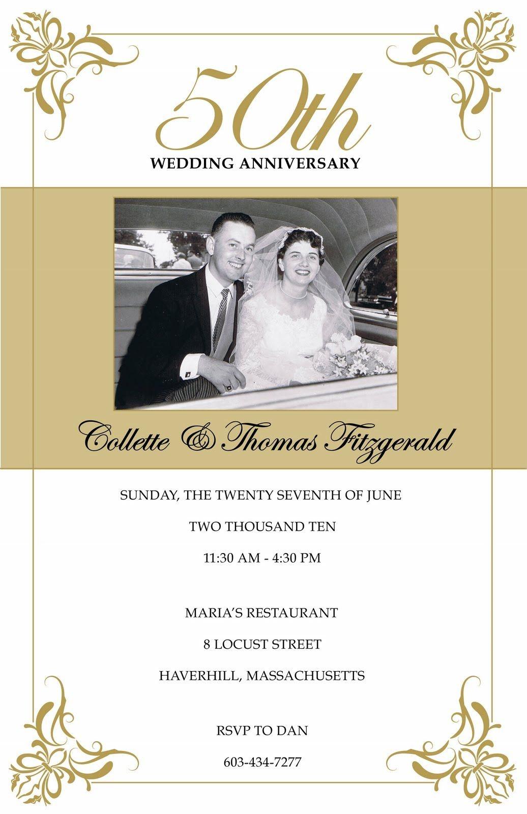 Free 50Th Wedding Anniversary Invitations Printable | Mom/dad 50Th - Free 50Th Anniversary Printables