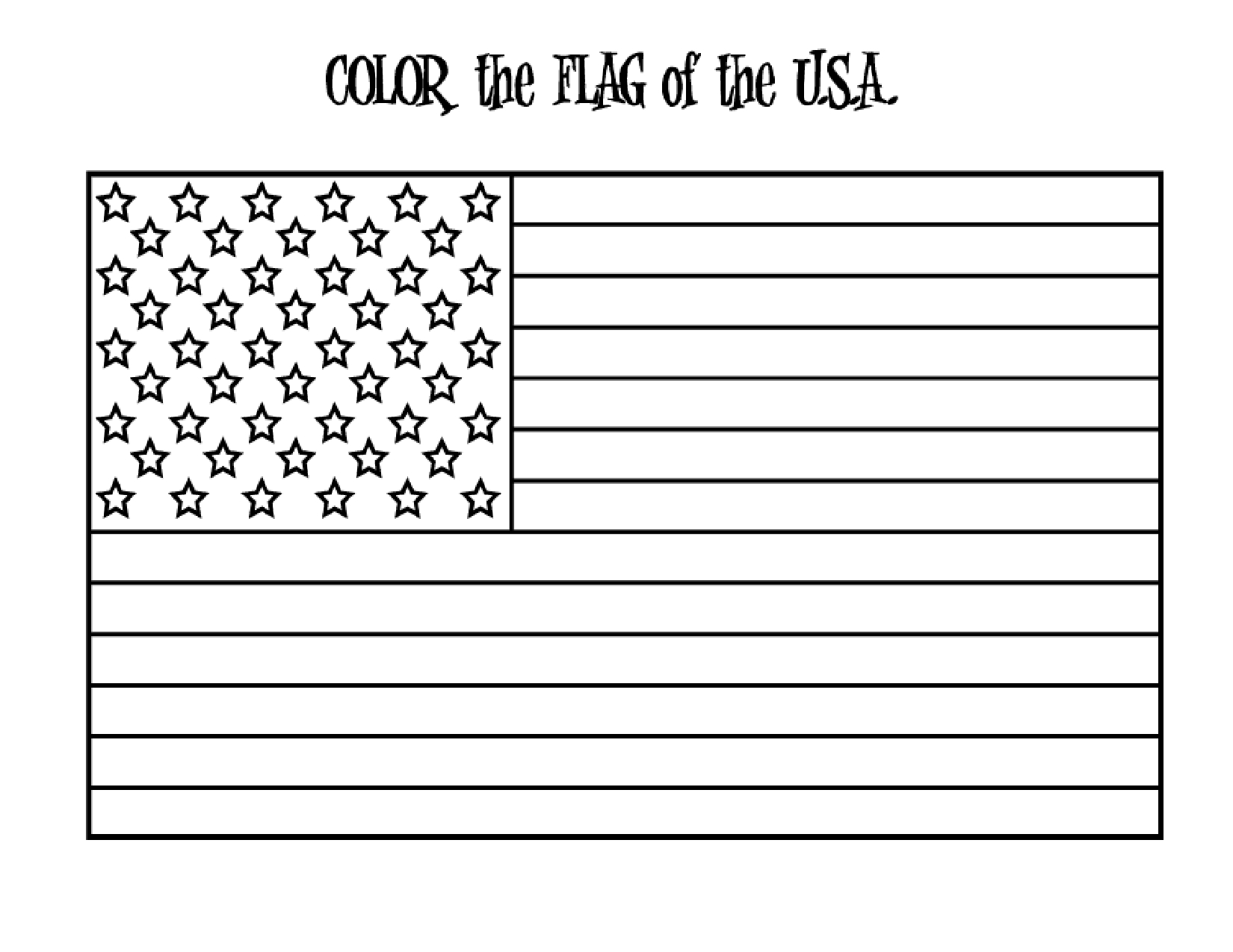 Free American Flag Printable, Download Free Clip Art, Free Clip Art - Free Printable American Flag Coloring Page