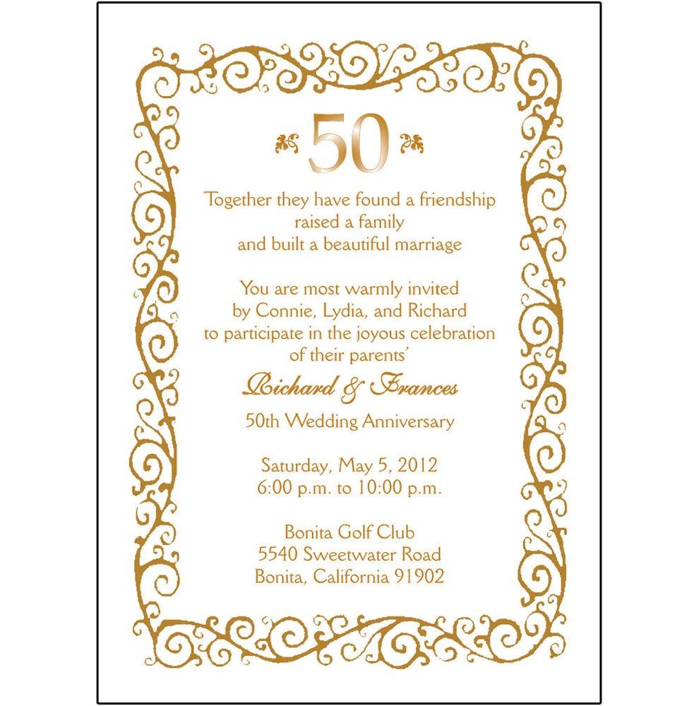 Free Anniversary Invitation Cliparts, Download Free Clip Art, Free - Free 50Th Anniversary Printables