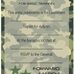 Free Army Birthday Invitation Template | Army Party Invitation In   Free Printable Camouflage Birthday Cards