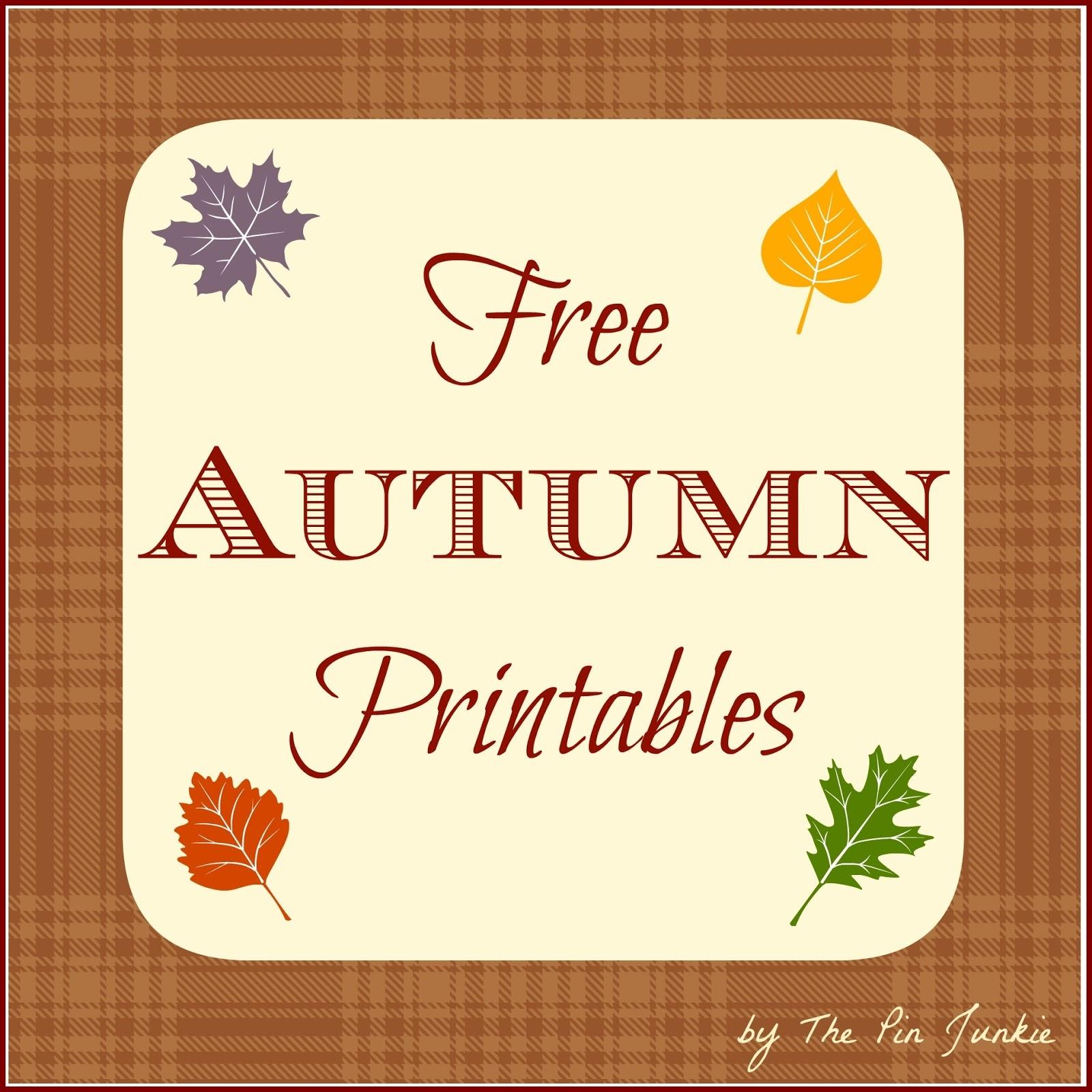 Free Autumn Printables - Free Autumn Printables
