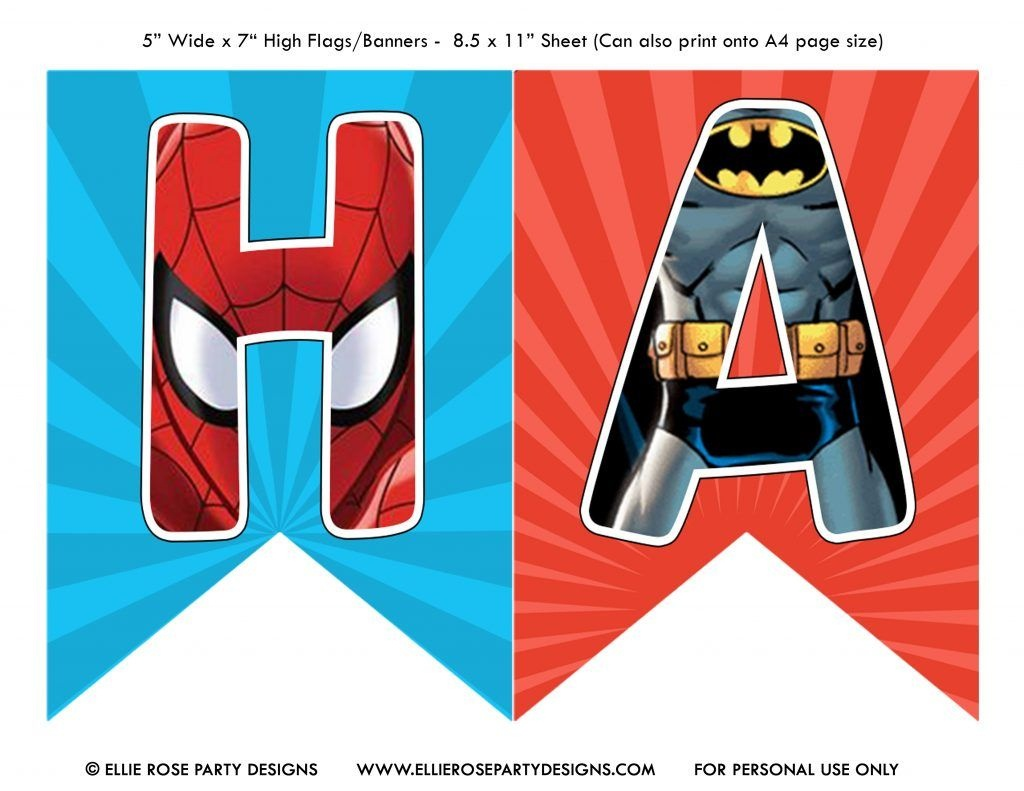 Free Avengers Birthday Party Printables | Ellierosepartydesigns - Free Avengers Birthday Party Printables