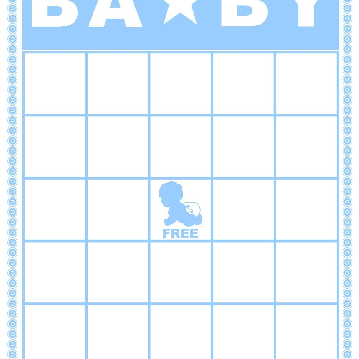 Free Baby Shower Bingo Cards Your Guests Will Love - Baby Shower Bingo Template Free Printable