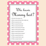 Free Baby Shower Game   Who Knows Mommy Best | Baby Shower Craft   Who Knows Mommy Best Free Printable
