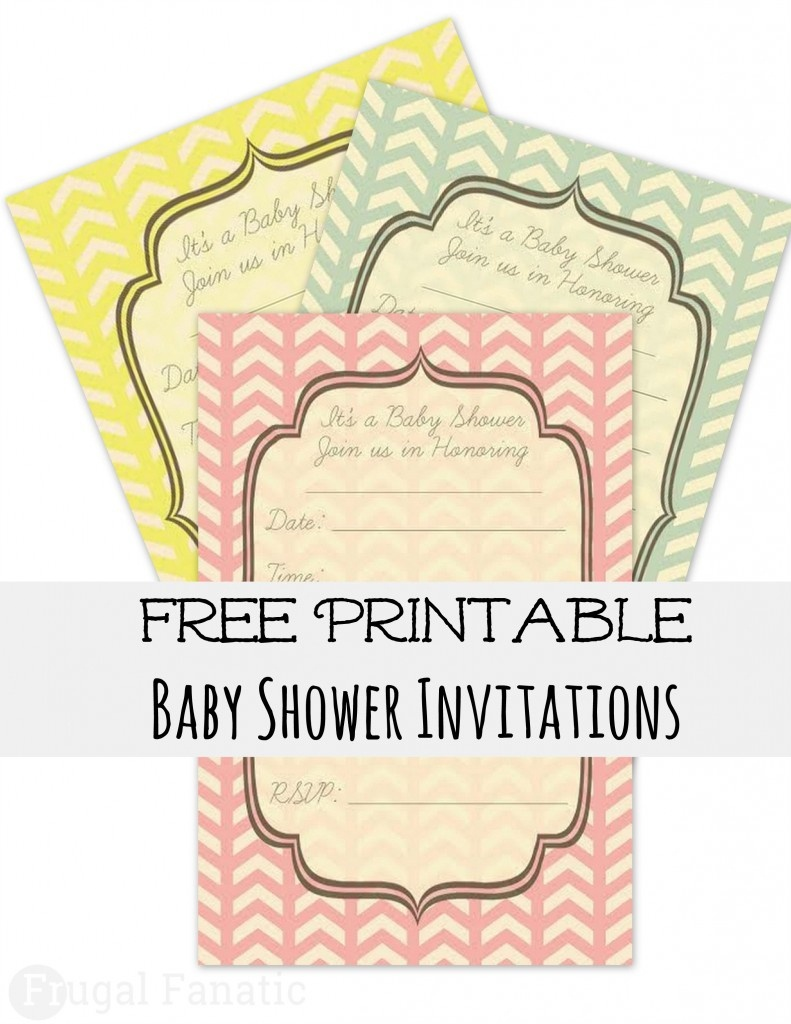 Free Baby Shower Invites - Frugal Fanatic - Baby Invitations Printable Free