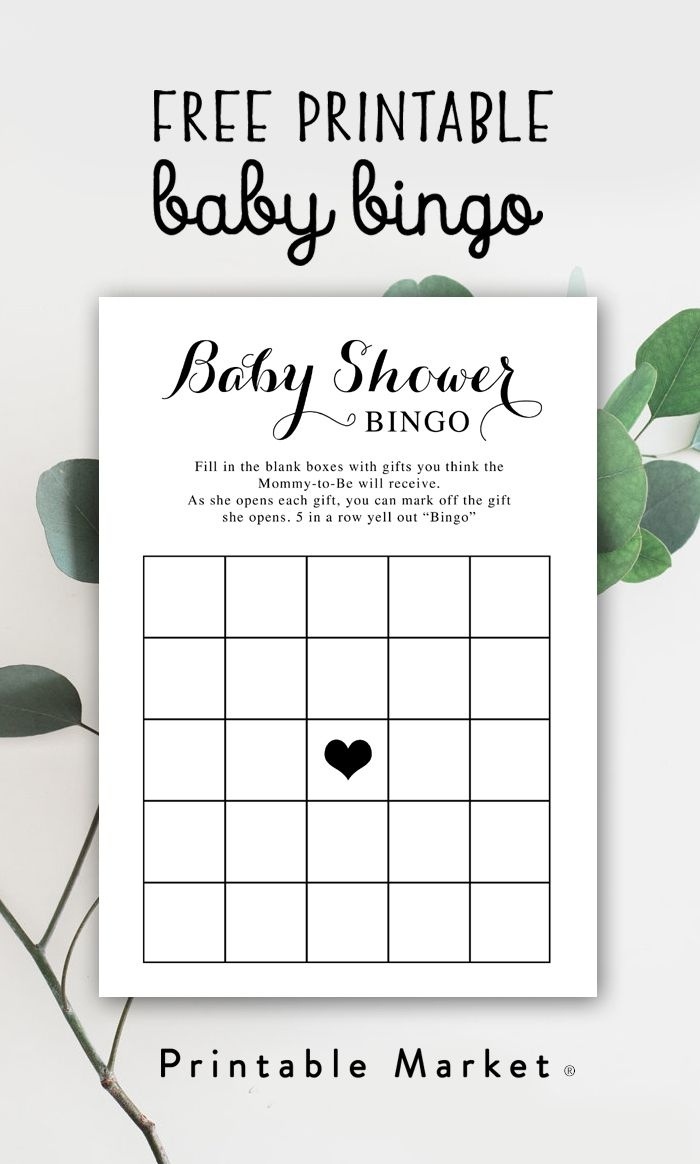 Free Baby Shower Printable – Baby Bingo - Instant Download In 2019 - Free Baby Shower Printables