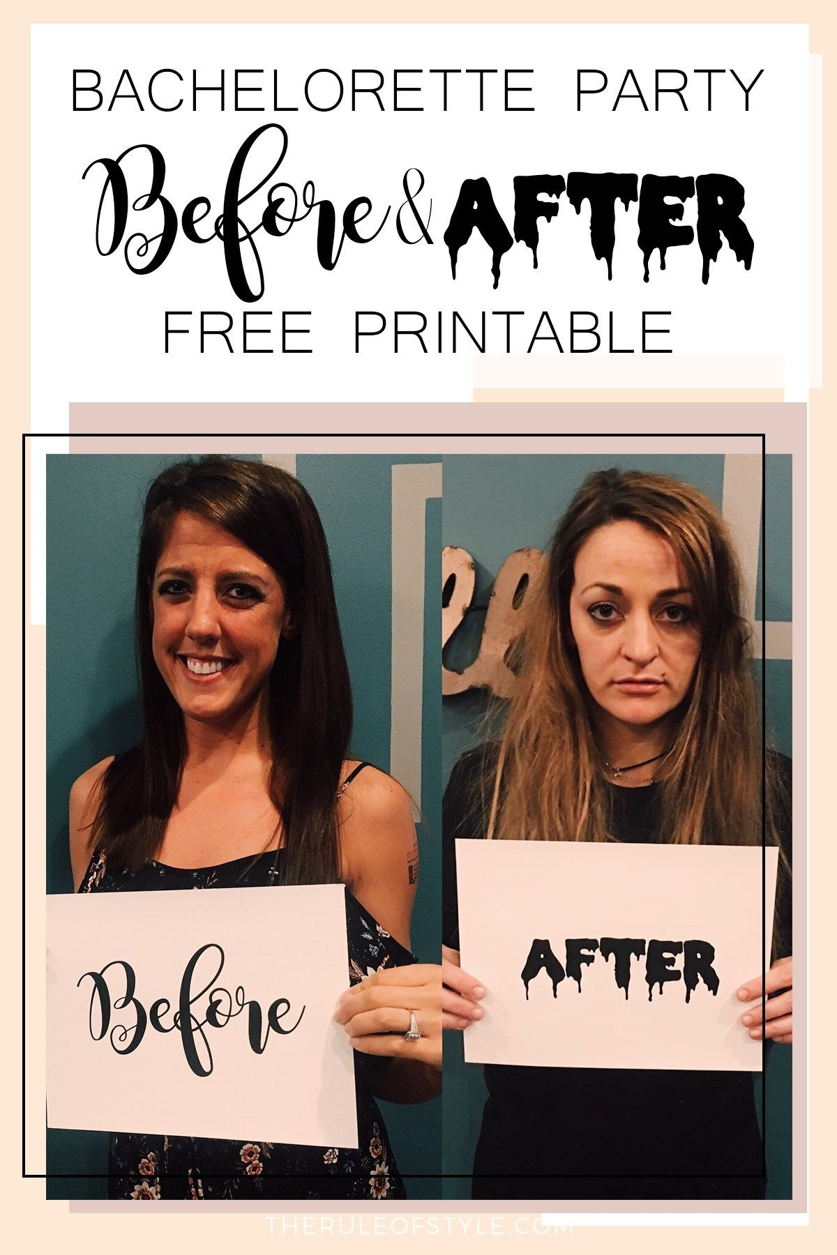 Free Bachelorette Party Printable - Before And After Signs - Free Printable Bachelorette Signs