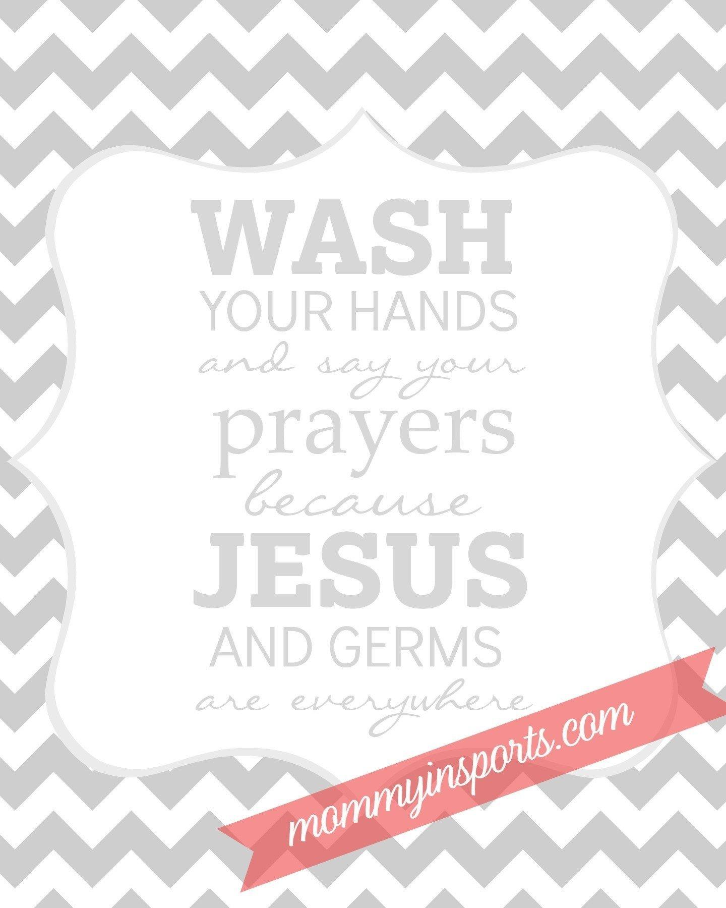 Free Bathroom Printable | Camp Ideas | Bathroom Kids, Kids Bathroom - Wash Your Hands And Say Your Prayers Free Printable