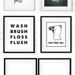 Free Bathroom Printables   Black And White   Printables   Home Decor   Free Bathroom Printables