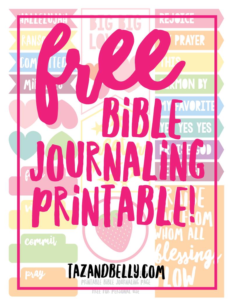 Free Bible Journaling Printable + Januarythe Numbers | Bible - Free Bible Journaling Printables