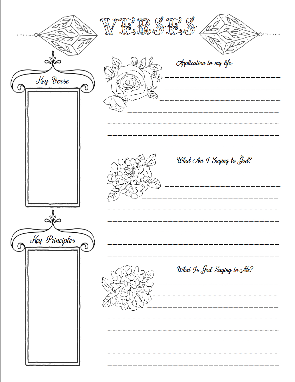 Free Bible Journaling Printables (Including One You Can Color!) - Free Bible Journaling Printables