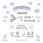 Free Birth Stats Board Svg, Png, Eps & Dxf| My Sanity Hobbies   Free Birth Announcements Printable
