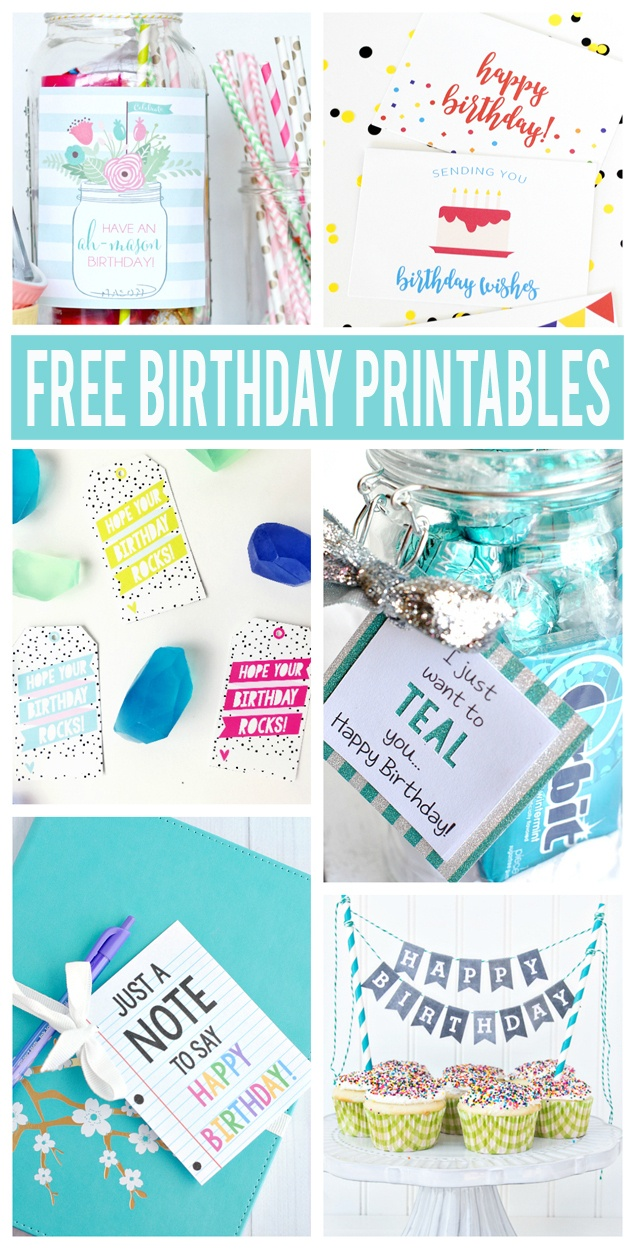 Free Birthday Printables - Eighteen25 - Free Party Printables