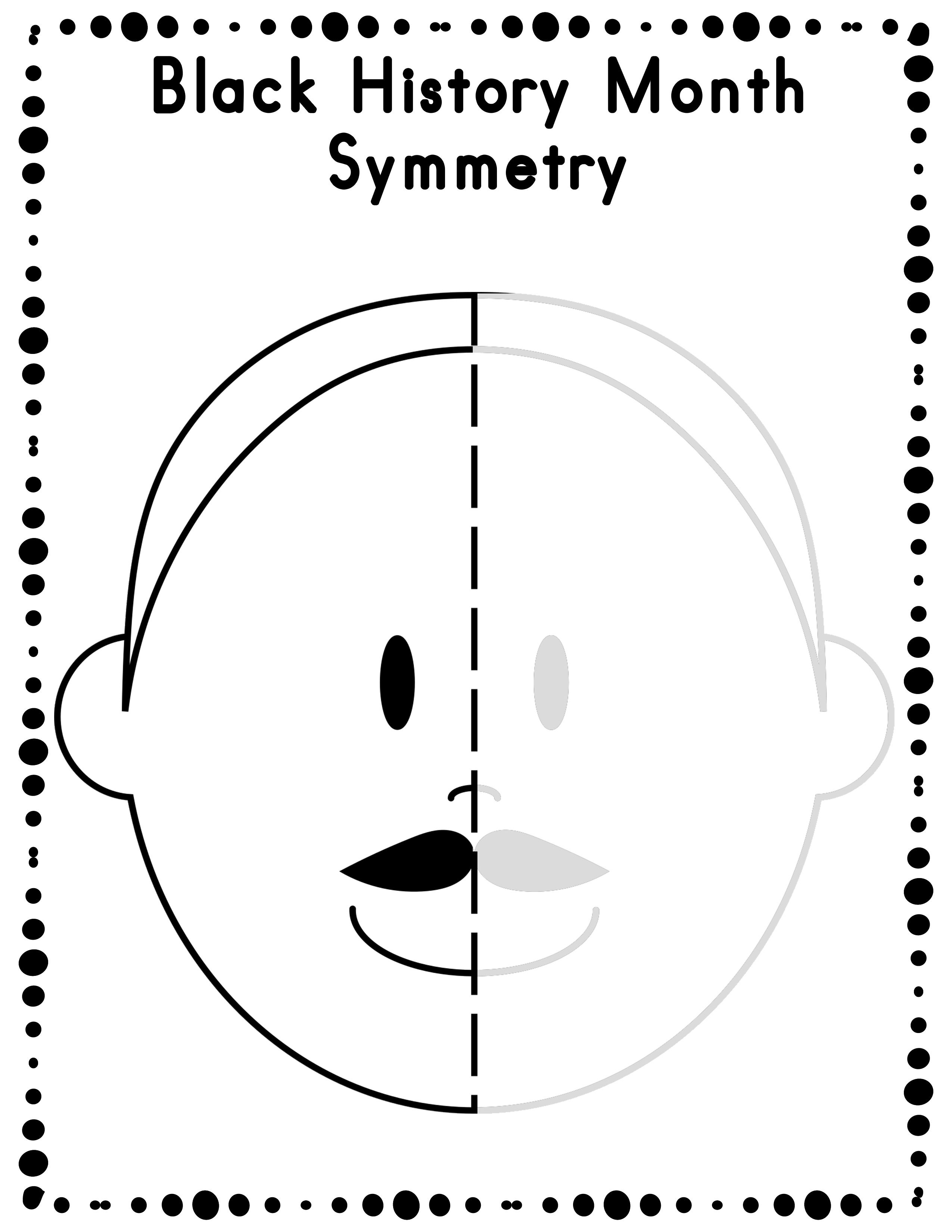 Free Black History Month Symmetry Activity Worksheets | Classroom - Free Printable Black History Month Word Search