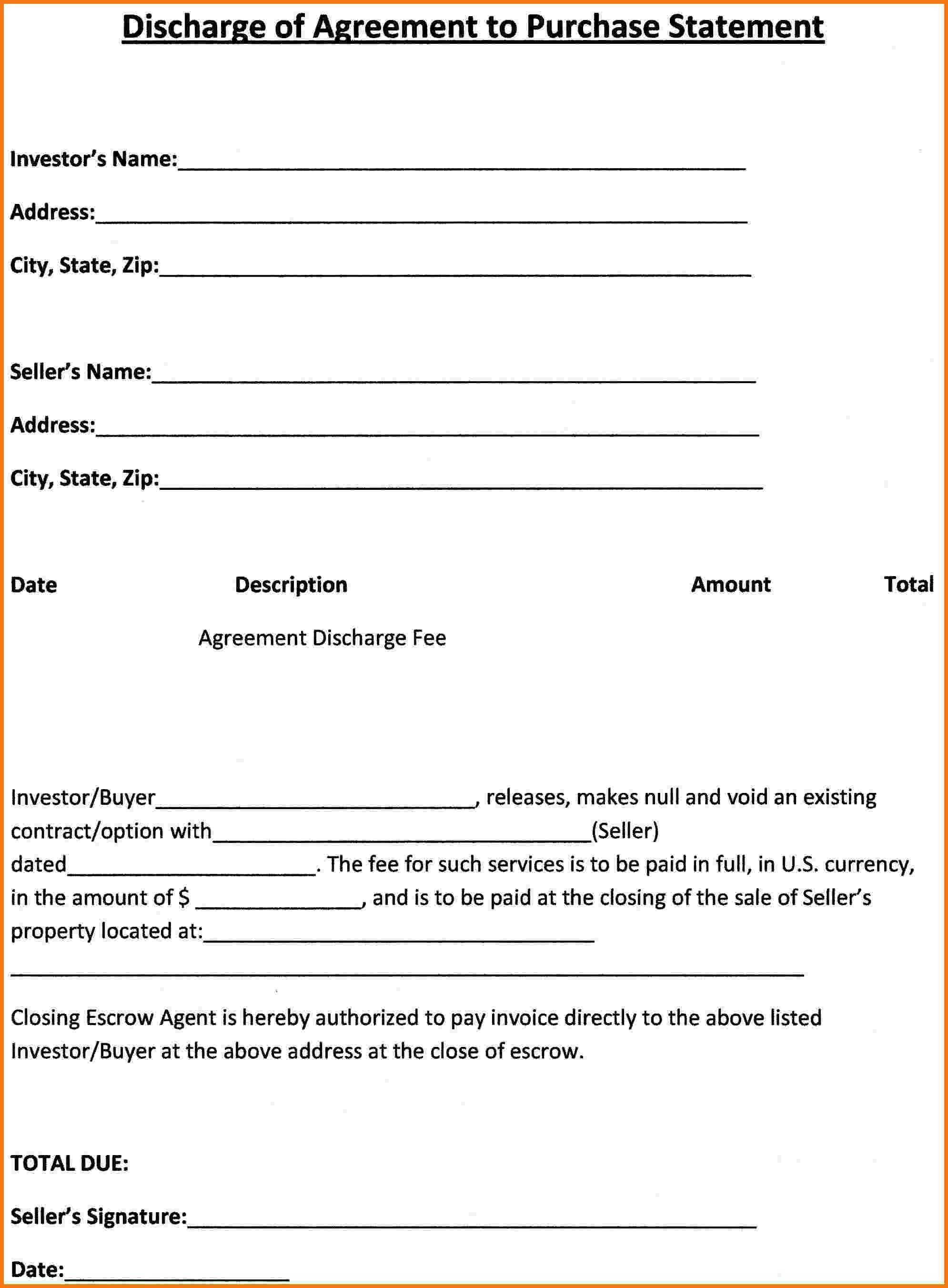 Free Blank Purchase Agreement Form 39703 Simple Purchase Agreement - Free Printable Purchase Agreement Forms