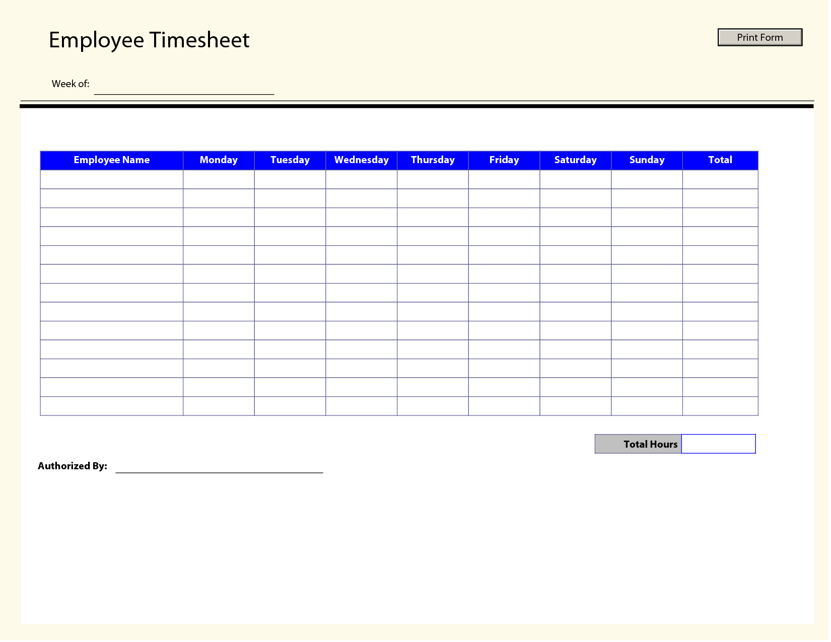 Free Blank Time Sheets - Kaza.psstech.co - Free Printable Attorney Timesheets