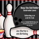 Free Bowling Birthday Party Invitations — Birthday Invitation Examples   Free Printable Bowling Birthday Party Invitations