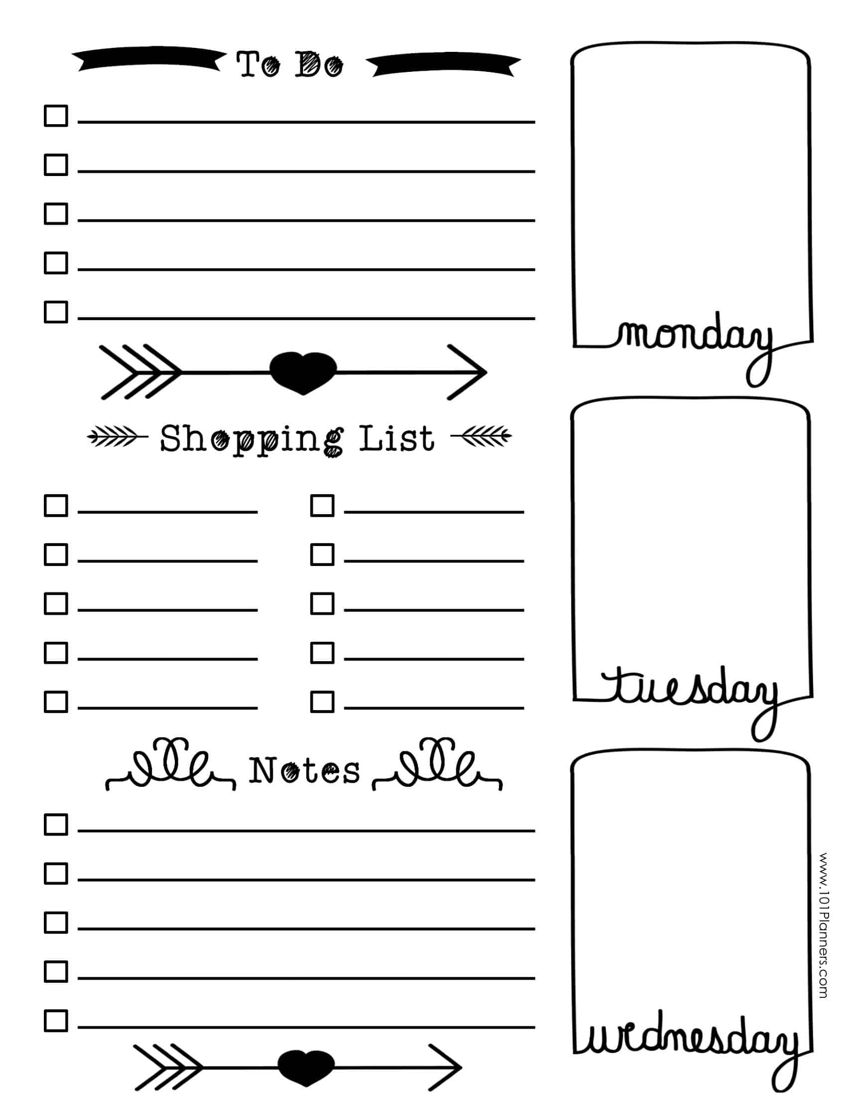 Free Bullet Journal Printables | Customize Online For Any Planner Size - Free Bullet Journal Printables 2018