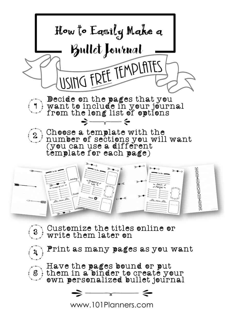 Free Bullet Journal Printables | Customize Online For Any Planner Size - Free Printable Journal Pages