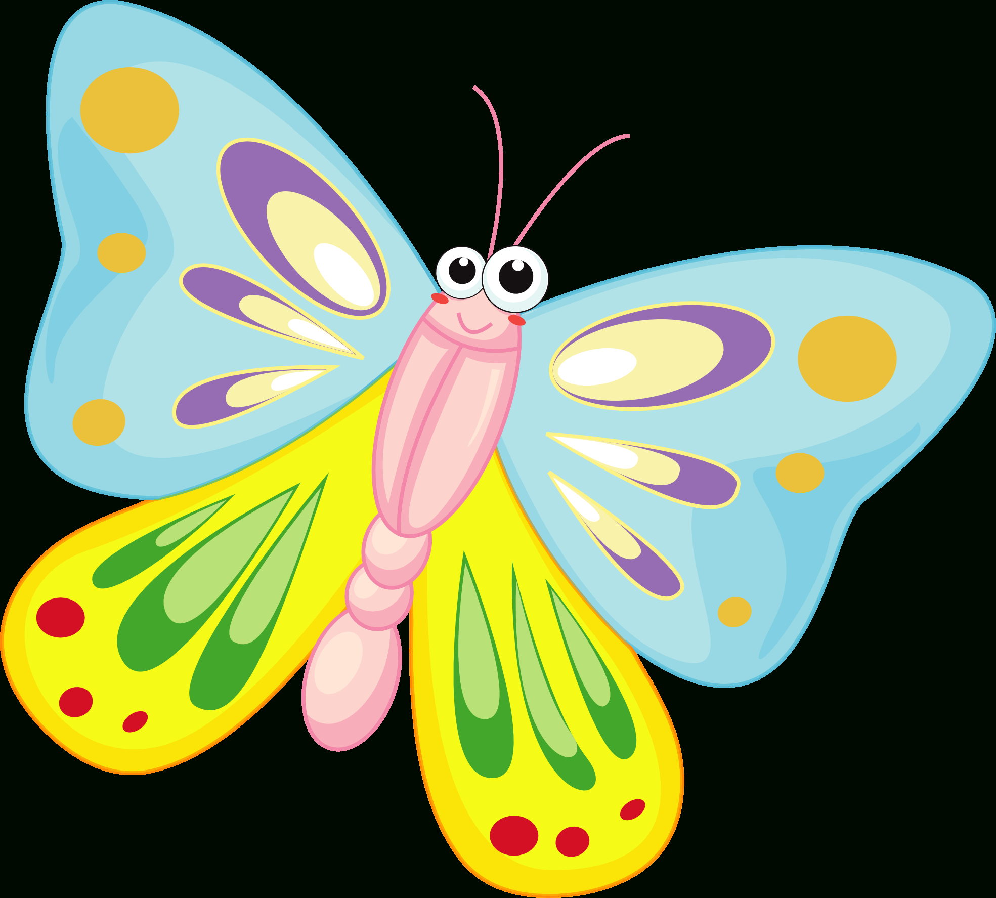 Free Butterfly Cartoon, Download Free Clip Art, Free Clip Art On - Free Printable Butterfly Clipart