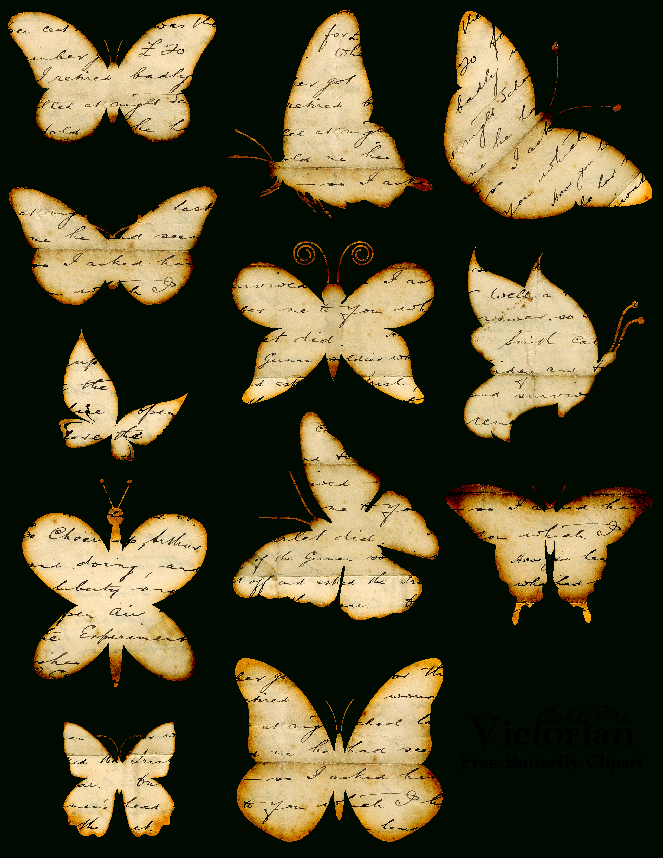 Free-Butterfly-Clipart | Butterflies | Butterfly Clip Art, Diy - Free Printable Butterfly Clipart