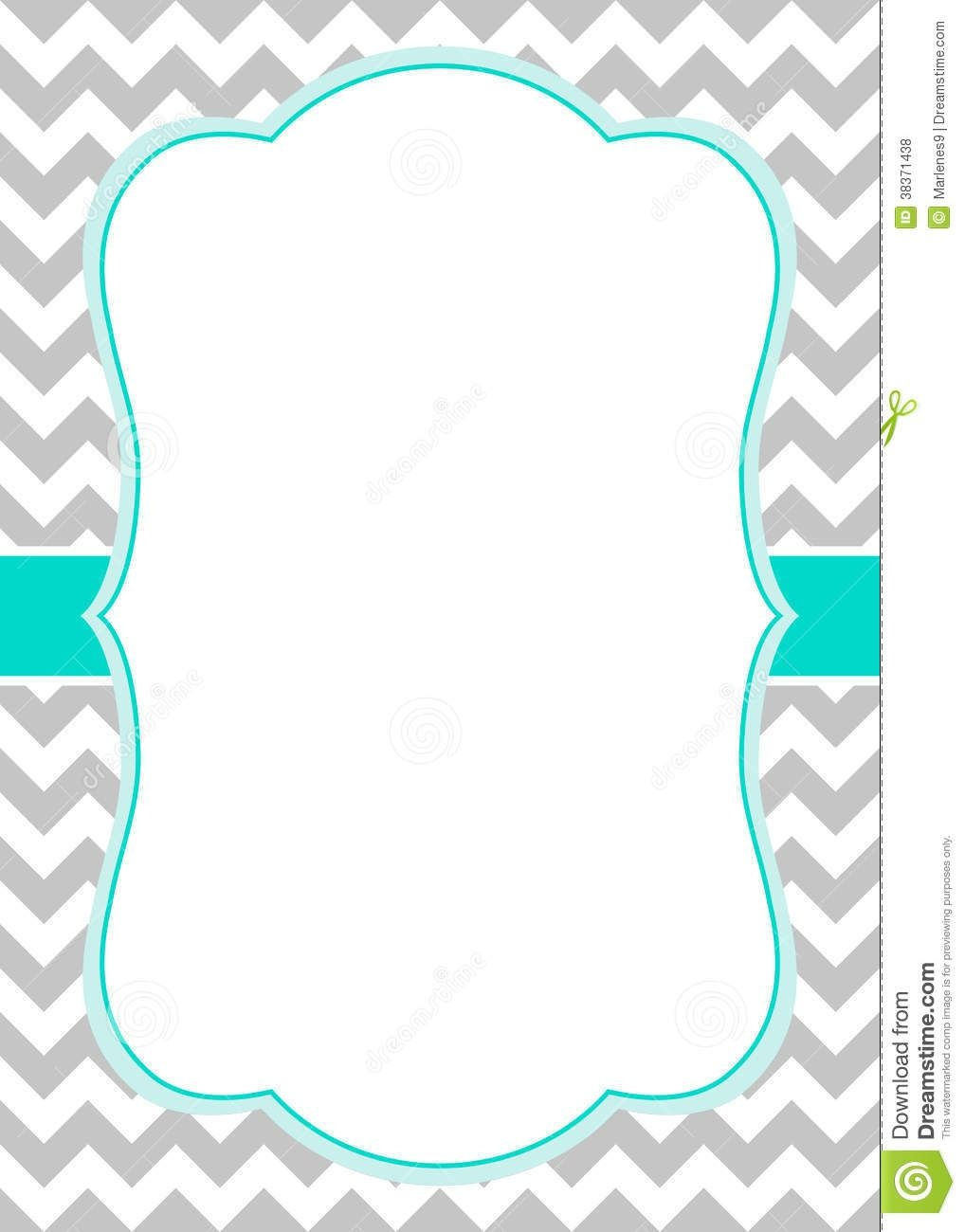 Free Chevron Border Templateadmin Admin | Baby Shower Ideas | Free - Free Chevron Printable Invitations