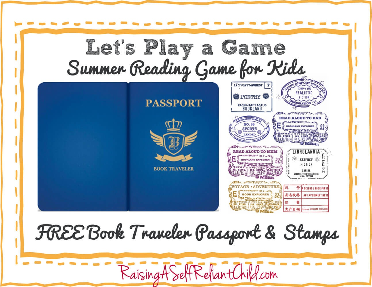 Free Children's Summer Reading Game Bookland Travel - Free Printable Passport Template