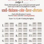 Free Chili Cook Off Score Card | Chili Cook Out Party | Chili, Chili   Chili Cook Off Printables Free