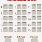 Free Chili Cook Off Score Card   My Name Is Snickerdoodle   Chili Cook Off Printables Free