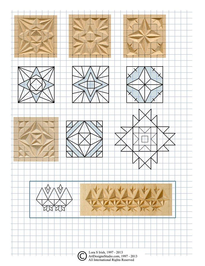 Free Chip Carving Patternlora Irish | Faragás | Famegmunkálás - Free Printable Chip Carving Patterns
