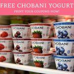 Free Chobani Yogurt! Print Your Coupons Now!   Deal Hunting Babe   Free Printable Chobani Coupons