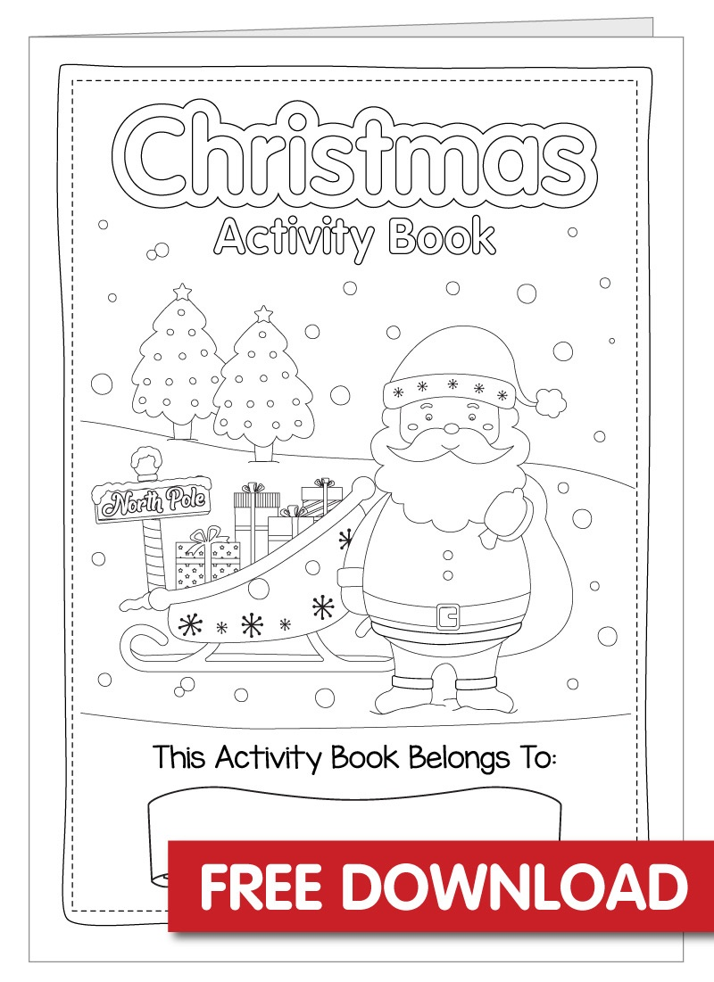 Free Christmas Activity Book Printable - Bright Star Kids - Free Christmas Printables For Kids