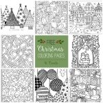 Free Christmas Adult Coloring Pages   U Create   Free Printable Christmas Coloring Sheets