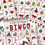 Free Christmas Bingo Game Printable   Free Holiday Games Printable