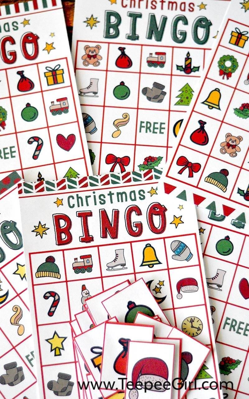 Free Christmas Bingo Game Printable - Free Holiday Games Printable