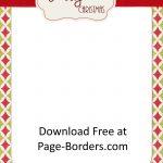 Free Christmas Border | Customize Online | Personal & Commercial Use   Free Printable Christmas Border Paper