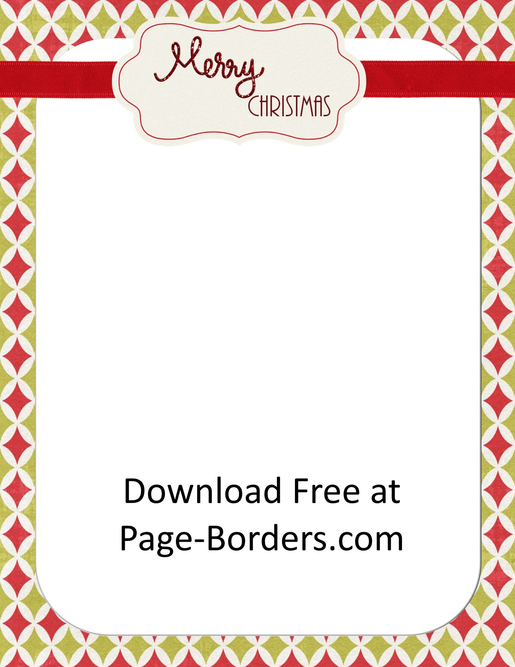 Free Christmas Border | Customize Online | Personal & Commercial Use - Free Printable Christmas Border Paper