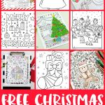 Free Christmas Coloring Pages For Adults And Kids   Happiness Is   Free Printable Christmas Coloring Sheets