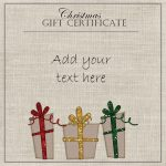 Free Christmas Gift Certificate Template | Customize Online & Download   Free Printable Gift Certificate Christmas