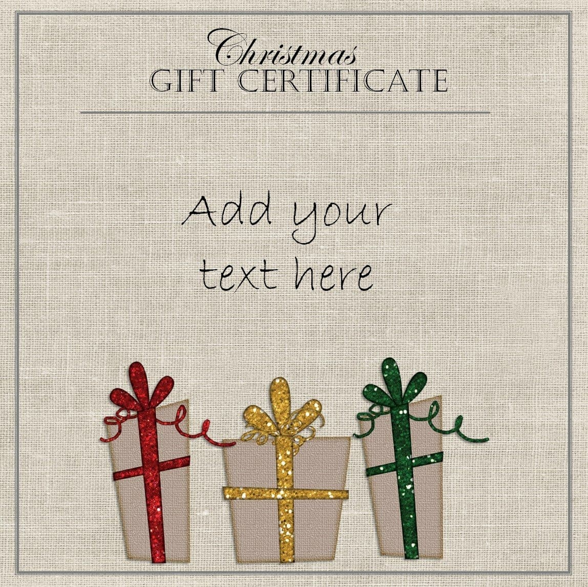 Free Christmas Gift Certificate Template | Customize Online & Download - Free Printable Gift Certificate Christmas