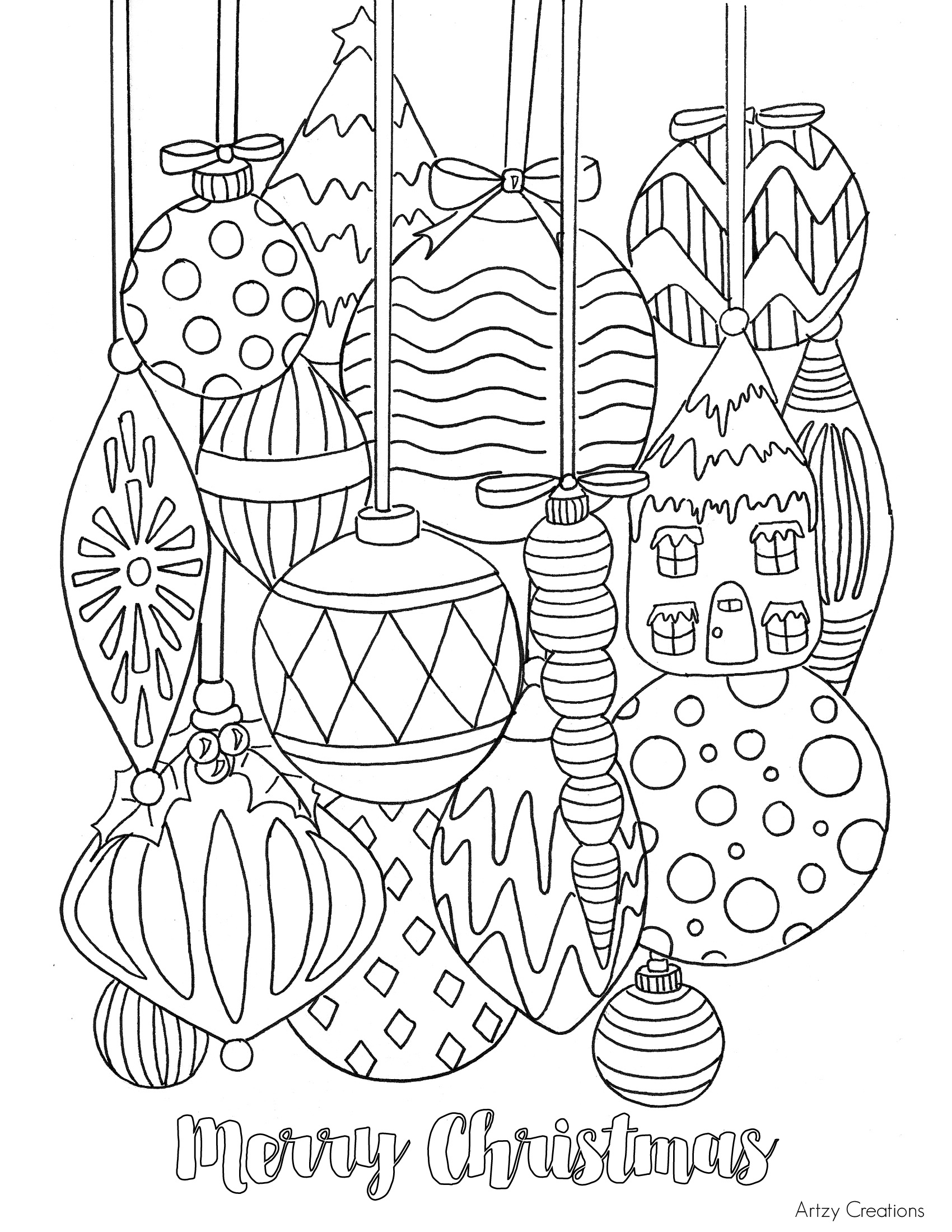 Free Christmas Ornament Coloring Page - Tgif - This Grandma Is Fun - Free Printable Christmas Ornament Coloring Pages
