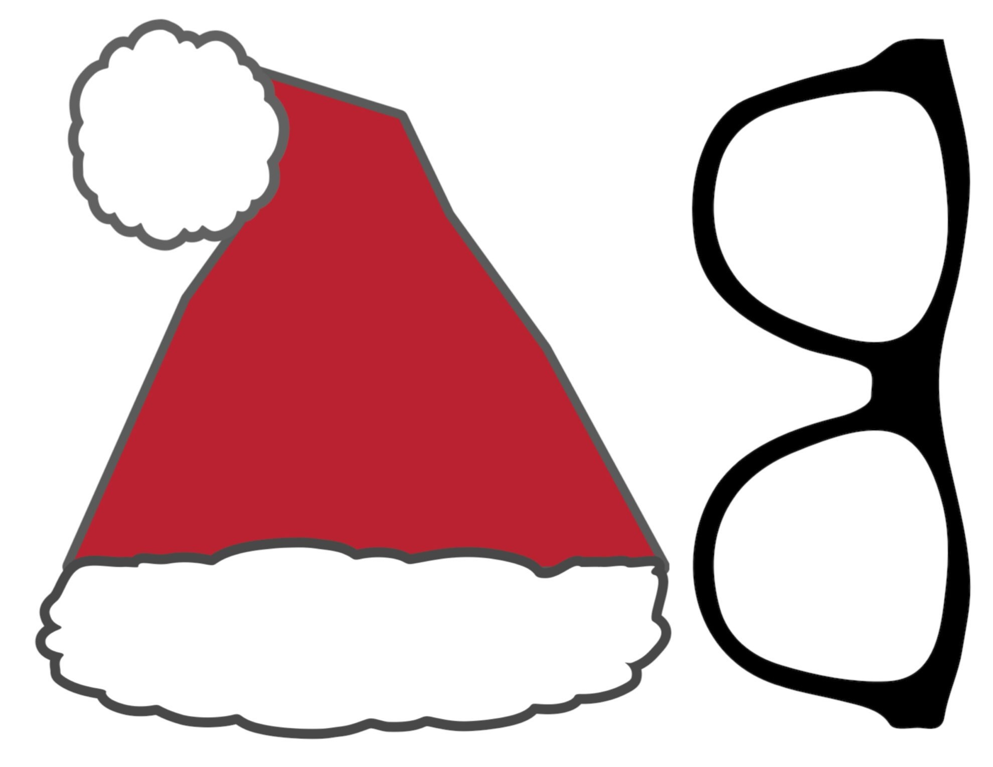 Free Christmas Photo Booth Props Printable - Paper Trail Design - Free Printable Christmas Photo Booth Props