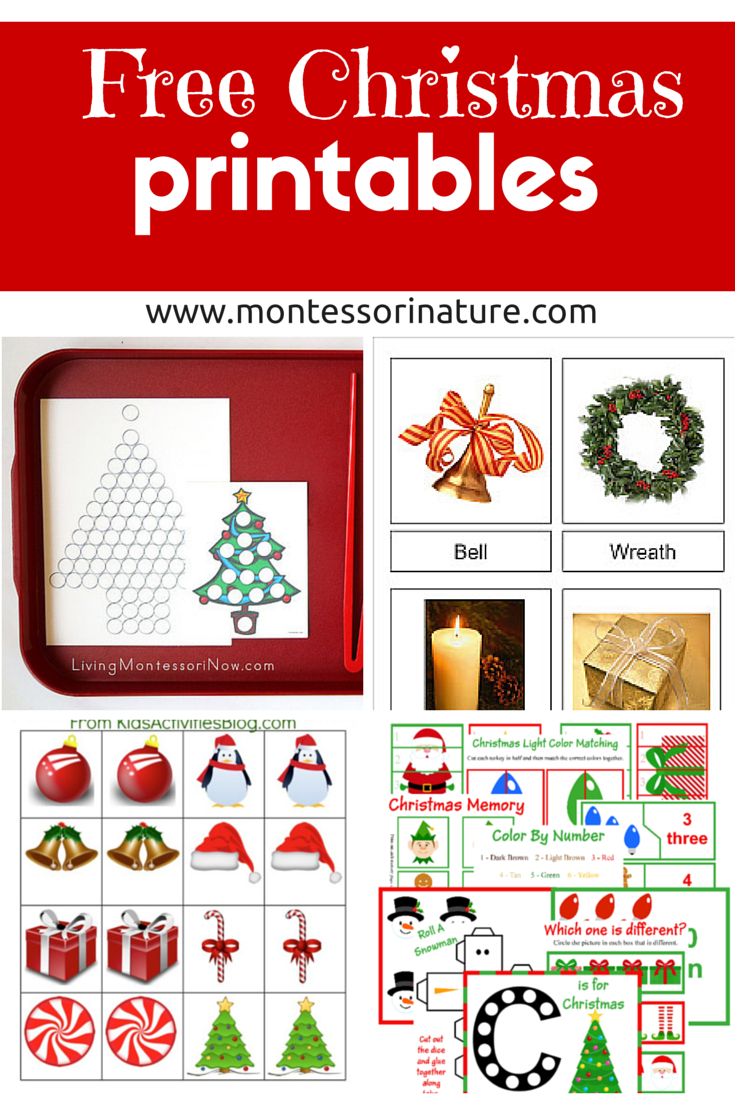 Free Christmas Printables - Learning Resources For Preschool Kids - Free Christmas Printables For Kids