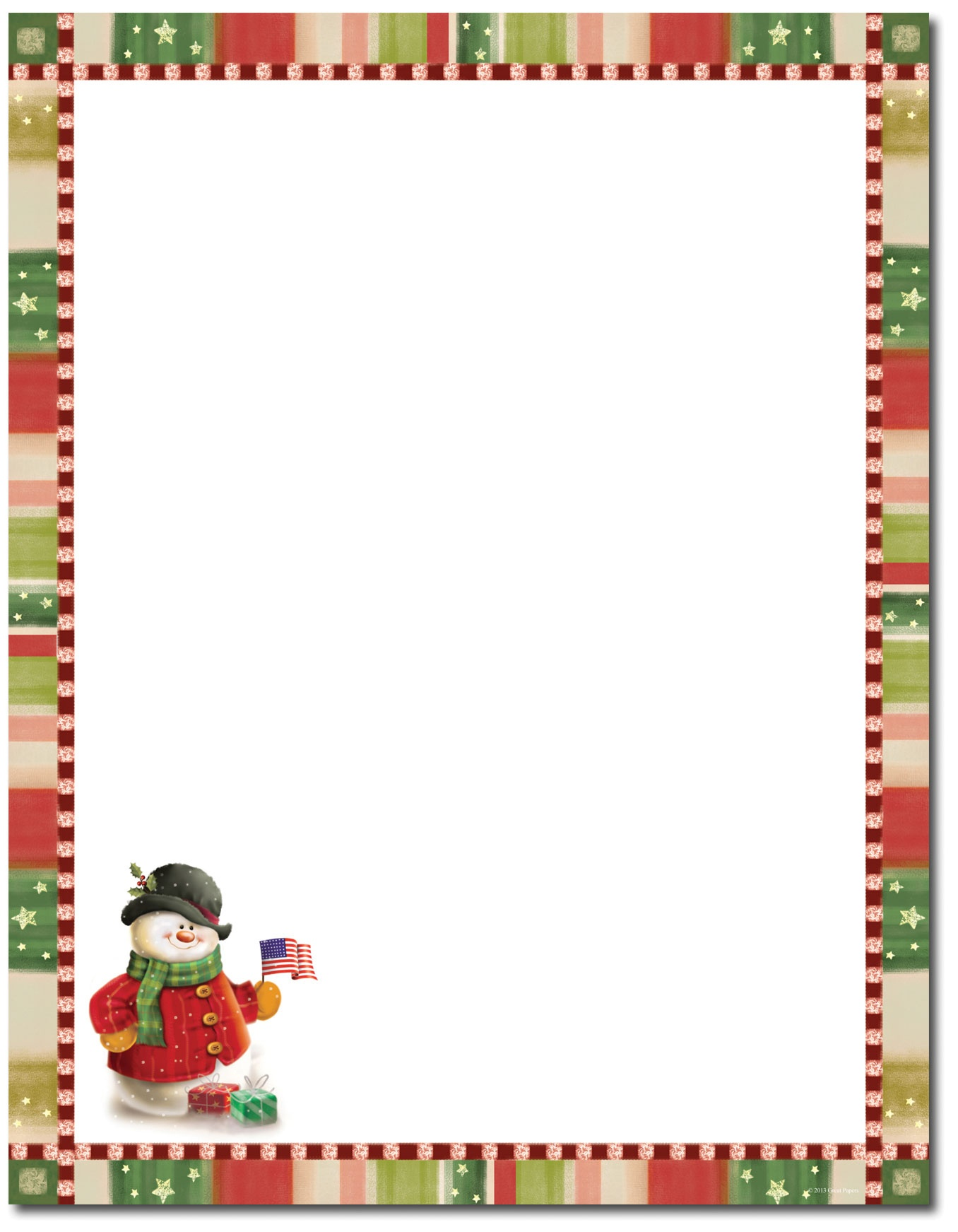 Free Christmas Stationary Cliparts, Download Free Clip Art, Free - Free Printable Christmas Stationary