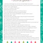Free Christmas Trivia Game | Lil' Luna   Holiday Office Party Games Free Printable