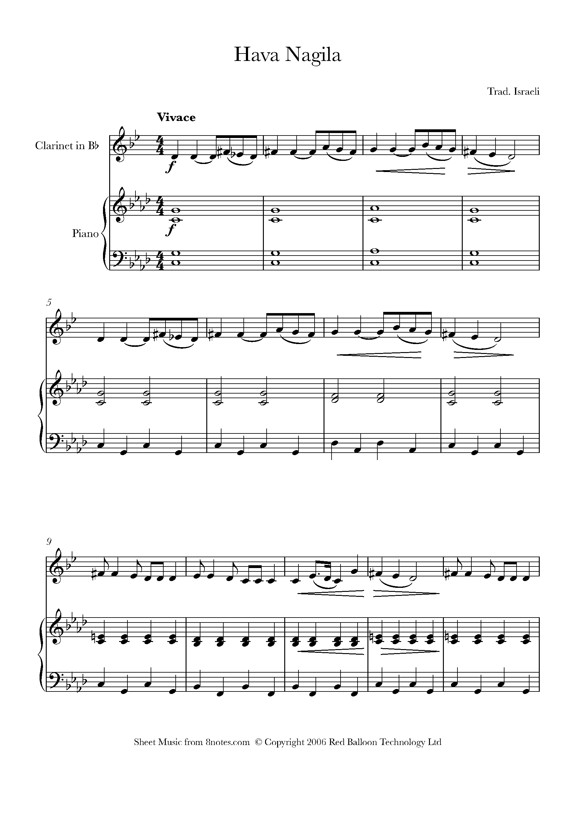 Free Clarinet Sheet Music, Lessons & Resources - 8Notes - Free Printable Sheet Music For Piano Beginners Popular Songs