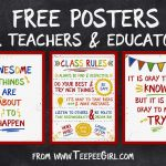 Free Classroom Posters   Teepee Girl   Free Printable Posters For Teachers