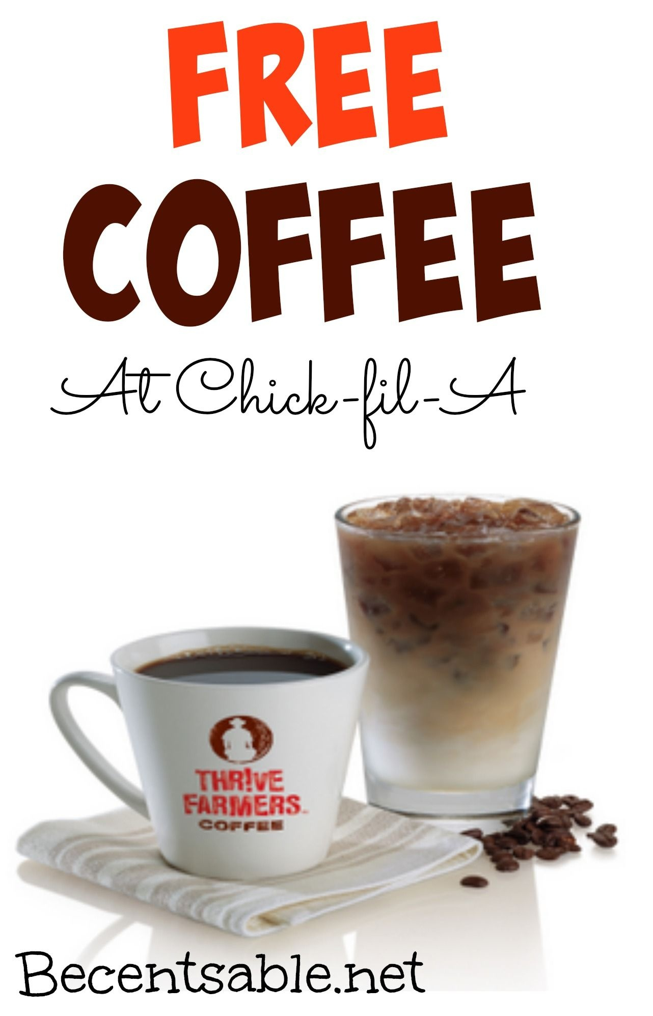 Free Coffee At Chick Fil A | Coupons | Coffee Coupons, Free - Free Coffee Coupons Printable