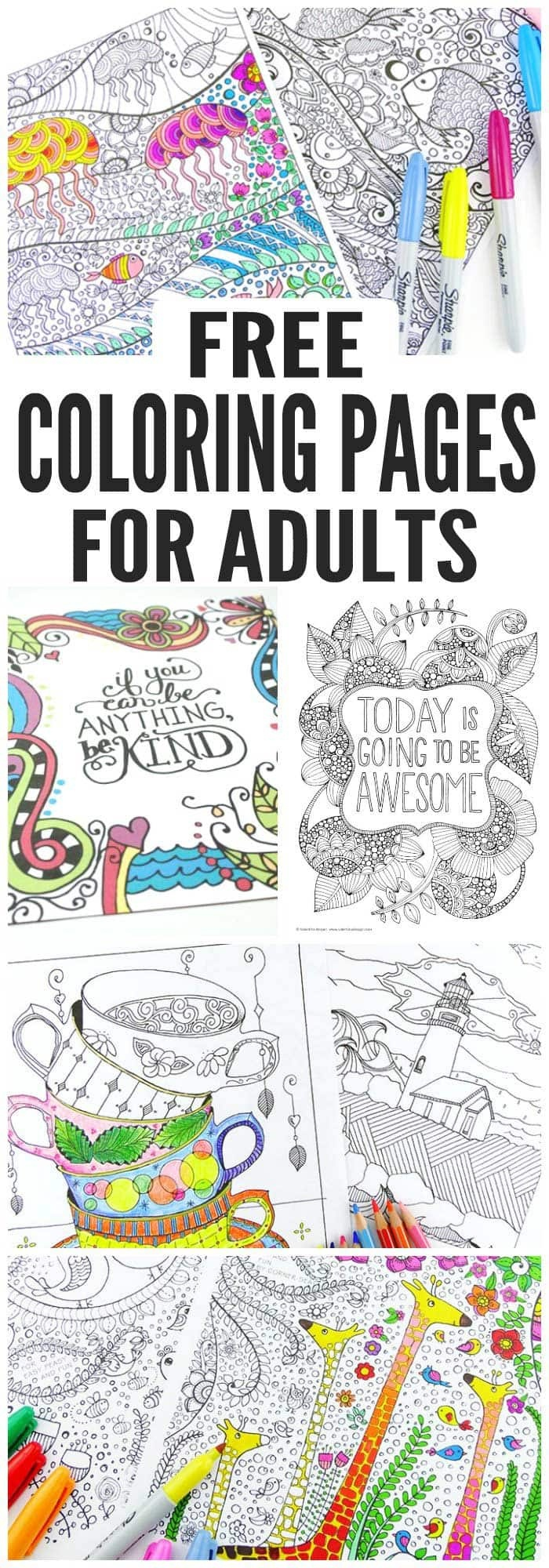Free Coloring Pages For Adults - Easy Peasy And Fun - Free Printable Coloring Book